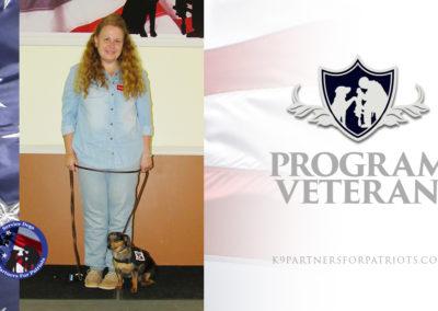 U.S. Navy Veteran Angelique and K9 Daphne – Service Dog Team