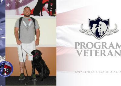 USMC Veteran Tim and K9 Shadow – Service Dog Team
